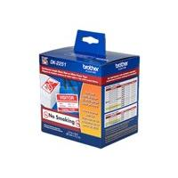 Brother DK2251 - label tape - 1 roll(s) - Roll (6.2 cm x 15.2 m)