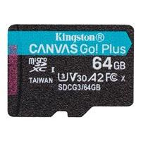 Kingston Canvas Go! Plus - carte mémoire flash - 64 Go - microSDXC UHS-I