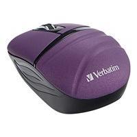 Verbatim Wireless Mini Travel Mouse - Commuter Series - souris - 2.4 GHz - violet
