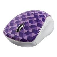 Verbatim Wireless Notebook Multi-Trac Blue LED Mouse - mouse - 2.4 GHz - purple diamond pattern