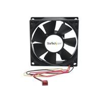 StarTech.com 80x25mm Dual Ball Bearing Computer Case Fan w/ TX3 Connector (FANBOX2) system fan kit