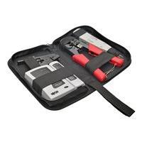 Tripp Lite 4-Piece Network Installer Tool Kit with Carrying Case RJ11 RJ12 RJ45 - kit testeur/outillage réseau