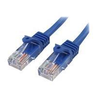 StarTech.com Cat5e Ethernet Cable15 ft - Blue - Patch Cable - Snagless Cat5e Cable - Network Cable - Ethernet Cord - Cat 5e Cable - 15ft - patch cable - 4.6 m - blue