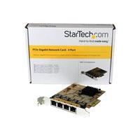 StarTech.com 4 Port PCIe Network Card - Low Profile - RJ45 Port - Realtek RTL8111G Chipset - Ethernet Network Card - NIC Server Adapter Network Card (ST1000SPEX43) - network adapter