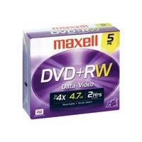 Maxell - DVD+RW x 5 - 4.7 Go - support de stockage