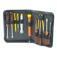 Manhattan Basic Computer Tool Kit, Computer Tool Kit, 13 pieces, Carry Pouch - computer repair tool set