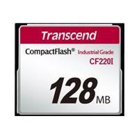Transcend CF220I Industrial Temp - flash memory card - 128 MB - CompactFlash 5)
