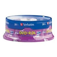 Verbatim - DVD+R DL x 20 - 8.5 GB - storage media