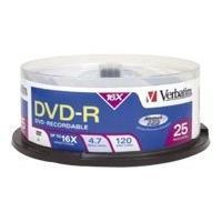 Verbatim - DVD-R x 25 - 4.7 Go - support de stockage (pack de 4)