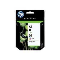 HP 61 Combo Pack - 2-pack - black, color (cyan, magenta, yellow) - original - ink cartridge