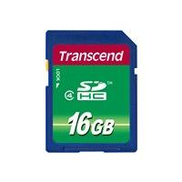 Transcend - flash memory card - 16 GB - SDHC