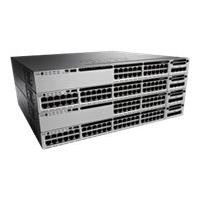 Cisco Catalyst 3850-48PW-S - switch - 48 ports - managed - rack-mountable - with 5 x Cisco Access Point Adder License (LIC-CTIOS-1A)