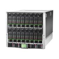 HPE BLc7000 Platinum Single-Phase Enclosure w/6 Power Supplies and 10 Fans w/16 OneView Licenses - rack-mountable - 10U - up to 24 blades