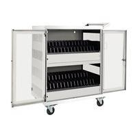 Tripp Lite 32-Port AC Charging Cart Storage Station Chromebook Laptop White - cart
