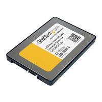 StarTech.com 2.5in SATA to Mini SATA SSD Adapter Enclosure - Mini PCIe ssd Adapter - SATA to mSATA - Mini PCIe SATA (SAT2MSAT25) - storage enclosure - SATA