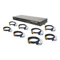 IOGEAR GCS1808KITP 8-Port VGA Combo KVM Switch with PS/2 Cables - commutateur KVM - 8 ports - Montable sur rack