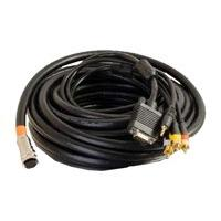 C2G RapidRun Plenum-rated Multi-Format All-In-One Runner Cable - video / audio cable - VGA / composite video / audio - 10.7 m