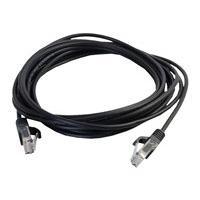 C2G Cat5e Snagless Unshielded (UTP) Slim Network Patch Cable - cordon de raccordement - 3.35 m - noir