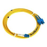 Axiom LC-ST Singlemode Duplex OS2 9/125 Fiber Optic Cable - 3m - Yellow - network cable - 3 m
