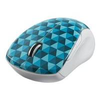Verbatim Wireless Notebook Multi-Trac Blue LED Mouse - mouse - 2.4 GHz - blue diamond pattern