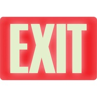U.S. Stamp & Sign Glow-in-the-Dark EXIT Sign