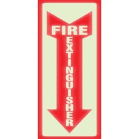 U.S. Stamp & Sign Glow Fire Extinguisher Sign