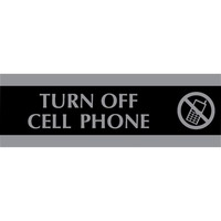 HeadLine Century Turn Off Cell Phone Sign