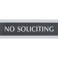 PANN 3X9 NO SOLICITING NR/GRS