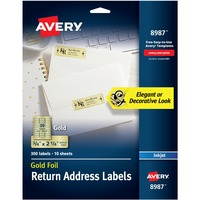 Avery® Foil Mailing Labels, Gold, 3/4