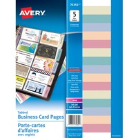 Avery Business Card Holder Page