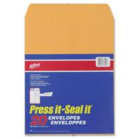 Hilroy Press-It Seal-It Kraft Adhesive Envelopes
