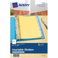 Avery® Buff Colored Insertable Dividers - Gold Reinforced