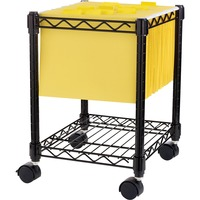 Lorell Compact Mobile Wire Filling Cart