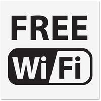 U.S. Stamp & Sign Free Wi-Fi Window Sign