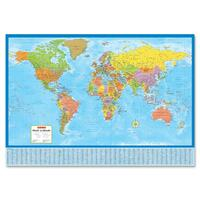 CCC Laminated Bilingual World Wall Map