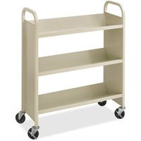 Safco Steel 3-Shelf Single-Sided Book Carts
