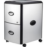 Storex Metal-clad Mobile Filing Cabinet