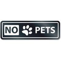 HeadLine No Pets Window Sign