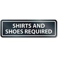 HeadLine Shirts/Shoes Reqrd Window Sign
