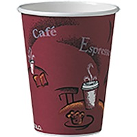 Unisource Bistro Design Disposable Paper Cups