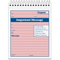 Adams Spiral-bound Phone Message Booklet