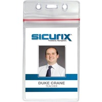 SICURIX Sealable ID Badge Holders