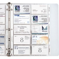 C-Line Business Card Refill Pages