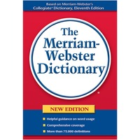 Merriam-Webster Paperback Dictionary Printed Book