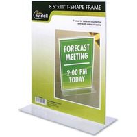 Nu-Dell T-shape Acrylic Frame Standing Sign Holder