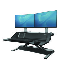 Fellowes Lotus DX Black Sit Stand Workstation