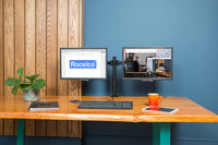 Rocelco Double Screen Monitor Arm